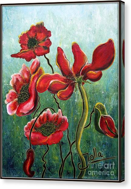 Endless Poppy Love Canvas Print