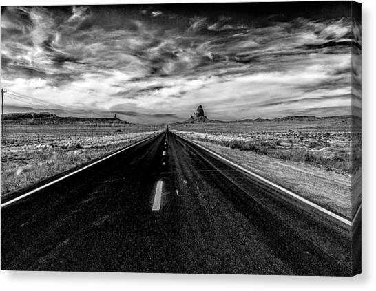 Endless Road Rt 163 Canvas Print