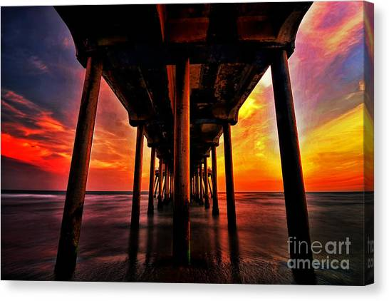 Endless Sunset Canvas Print