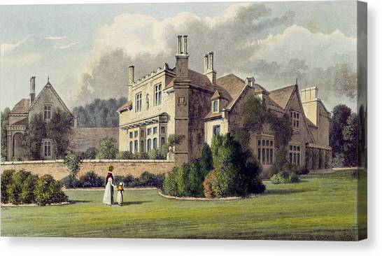 Cottage Style Canvas Print - Endsleigh, From Ackermanns Repository by English School