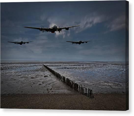 Enemy Coast Ahead Skipper Canvas Print