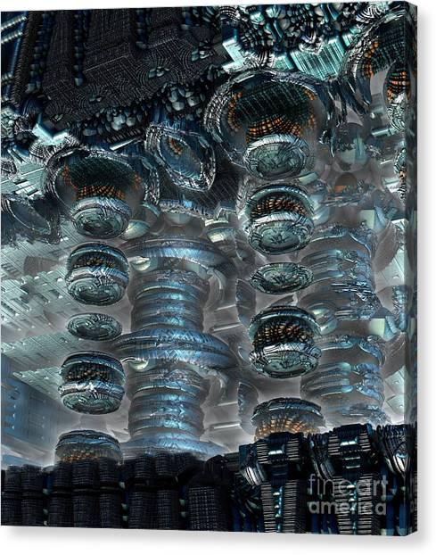 Nuclear Plants Canvas Print - Energy by Bernard MICHEL