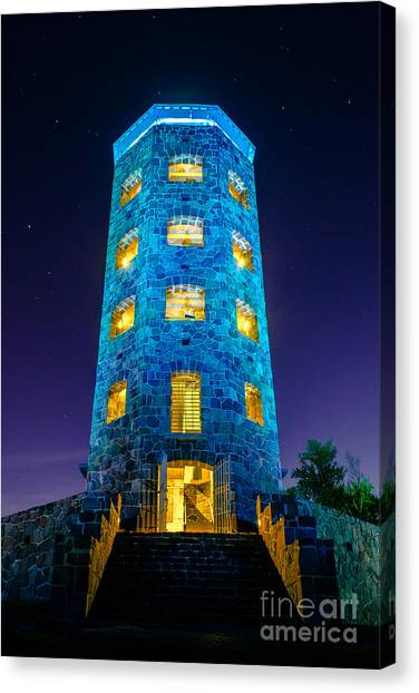 Enger After Dark Canvas Print