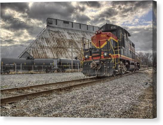 Trainspotting Canvas Print - Engine 414 by Jason Politte