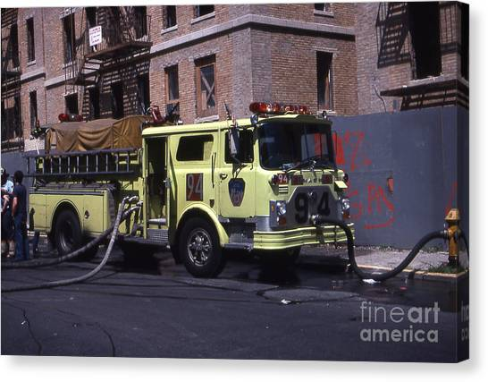 Engine 94 Fdny Lime Canvas Print