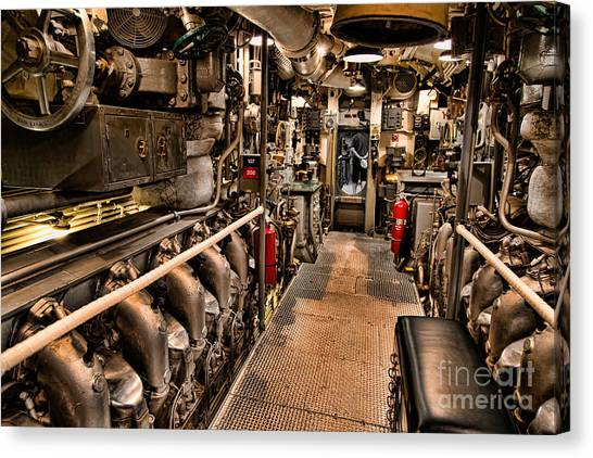 Engine Room Canvas Print