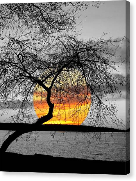 English Bay Sunset Canvas Print