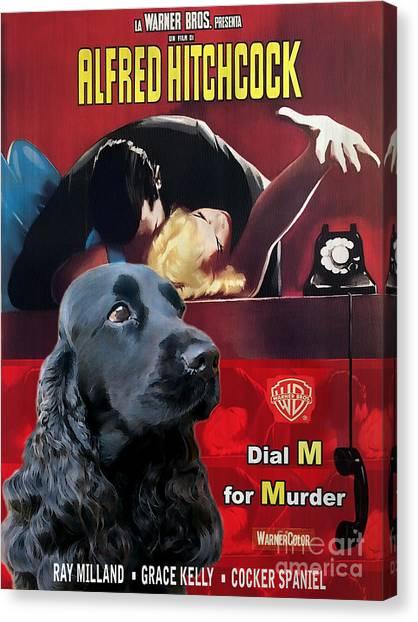 English Cocker Spaniel Art - Dial M For Murder Canvas Print