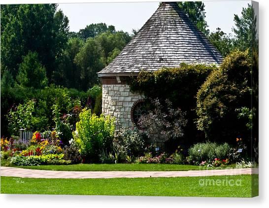 English Cottage Garden Canvas Print