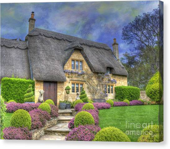 English Country Cottage Canvas Print