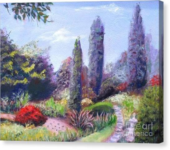 English Estate Gardens Canvas Print