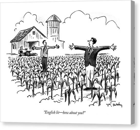Arms Outstretched Canvas Print - English Lit - How About You? by Mike Twohy