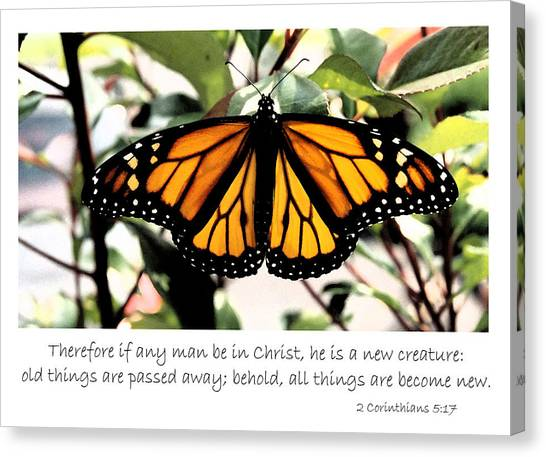 English New Creature In Christ Canvas Print