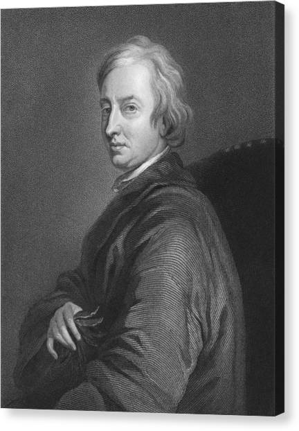 English And Literature Canvas Print - English Poet John Dryden by C.E. Wagstaff