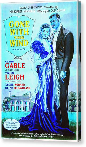 Gone With The Wind Canvas Print - English Poster Of Gone With The Wind by Art Cinema Gallery