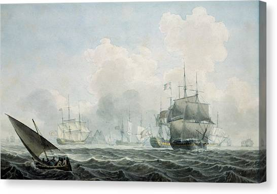Royal Marines Canvas Print - English Ships Of War by Robert Cleveley