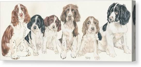 Canvas Print - English Springer Spaniel Puppies by Barbara Keith