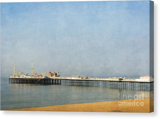 English Victorian Seaside Pier - Textured Canvas Print
