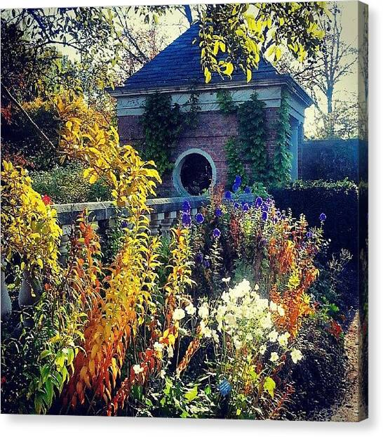 Gardens Canvas Print - English Walled Garden by Jill Tuinier