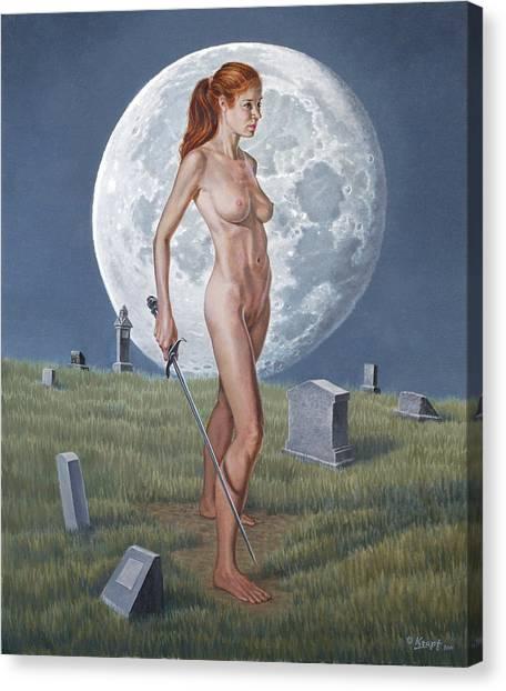 Cemetery Canvas Print - Enigma by Paul Krapf
