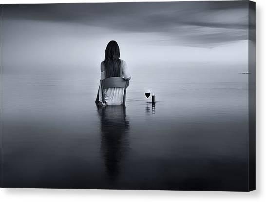 Enjoy The Silence Canvas Print by Maria Kaimaki
