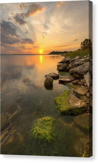 Enjoying Sunset Canvas Print