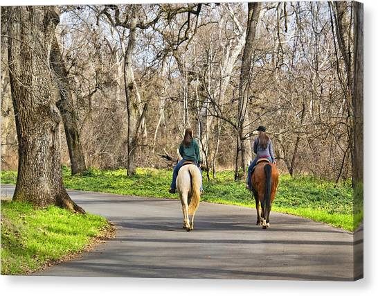 Enjoying The Scenery In Bidwell Park Canvas Print