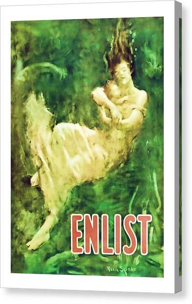 Enlist World War 1 Enlistment Art Canvas Print