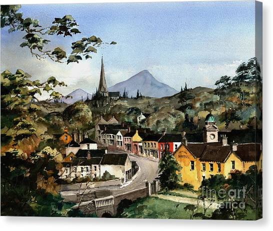 Enniskerry Panorama Wicklow Canvas Print