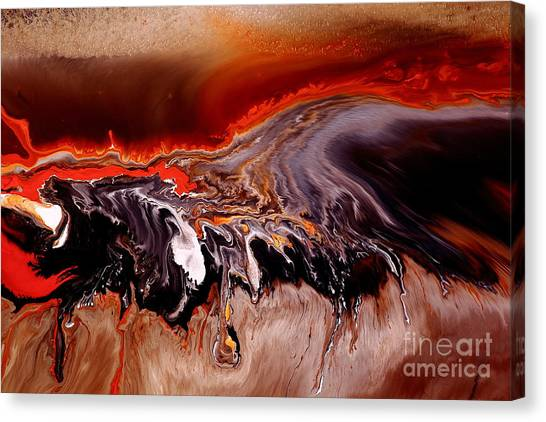 Enormous Power Wall Red Abstract Art By Kredart Canvas Print