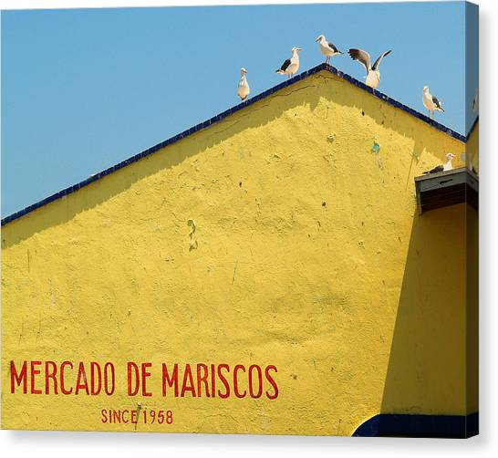 Ensenada Harbour Fish Market 33 Canvas Print