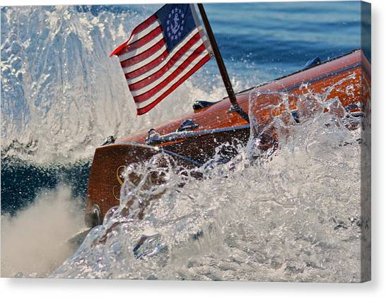 Ensign Wake Canvas Print