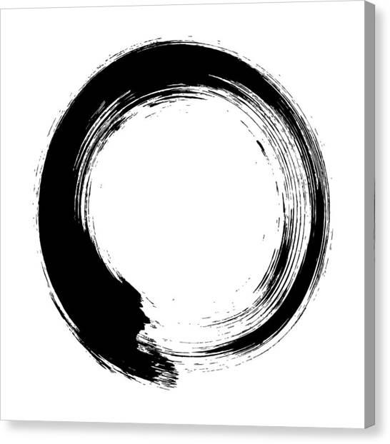 Enso – Circular Brush Stroke Japanese Canvas Print