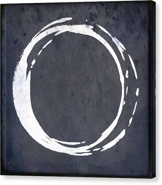 Enso No. 107 Blue Canvas Print