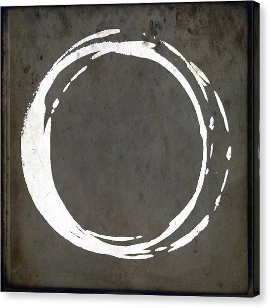 Enso No. 107 Gray Brown Canvas Print