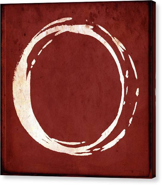 Enso No. 107 Red Canvas Print