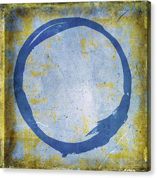 Enso No. 109 Blue On Blue Canvas Print