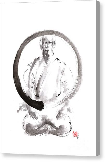 Karate Canvas Print - Enso. Zen Circle Martial Arts. by Mariusz Szmerdt