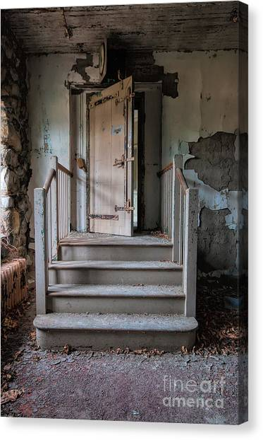 Junior College Canvas Print - Enter At Your Own Risk by Rick Kuperberg Sr