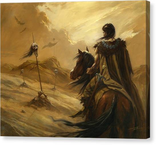 World Of Warcraft Canvas Print - Entering The Deadlands by Alan Lathwell
