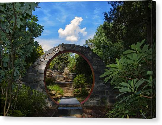 Entering The Garden Gate Canvas Print