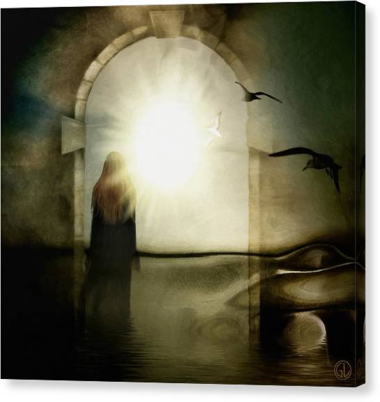 Portal Canvas Print - Entering The Gate by Gun Legler
