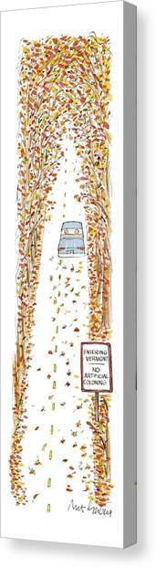 Vermont Canvas Print - Entering Vermont by Mort Gerberg