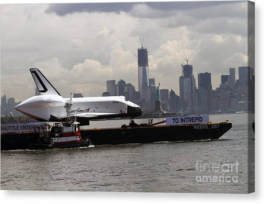 Enterprise To The Intrepid Air And Space Museum Canvas Print