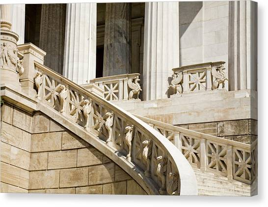Entrance Stairs To National Library Canvas Print