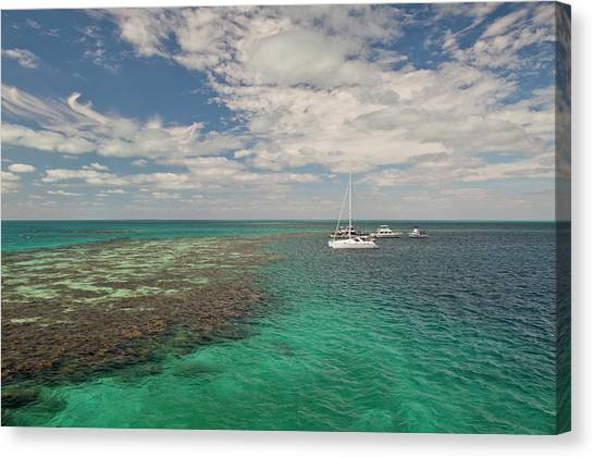 Belize Canvas Print - Entrance To Famous Blue Hole by Michele Benoy Westmorland