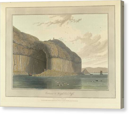 Mountain Caves Canvas Print - Entrance To Fingal's Cave by British Library