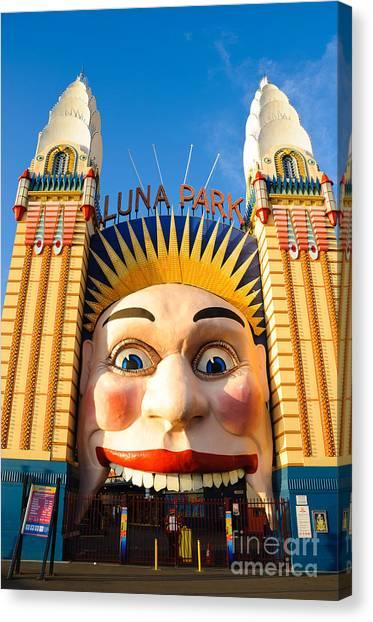 Entrance To Luna Park - Sydney - Australia Canvas Print