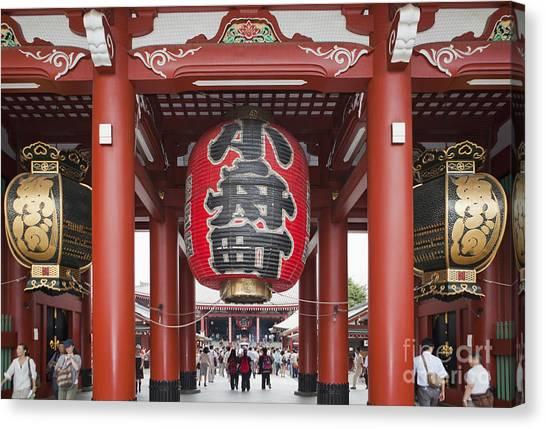 Entrance To Senso-ji Temple Canvas Print