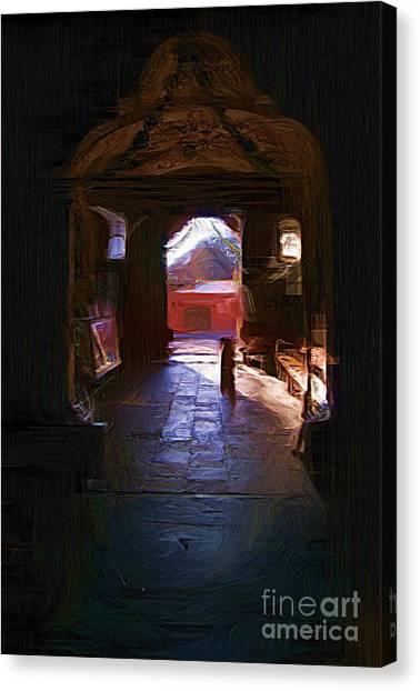 Entrance To The Church Of Atotonilco Canvas Print